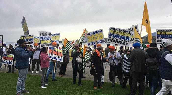 Thousands take to street in Geneva to protest Indian brutality in Kashmir, Punjab