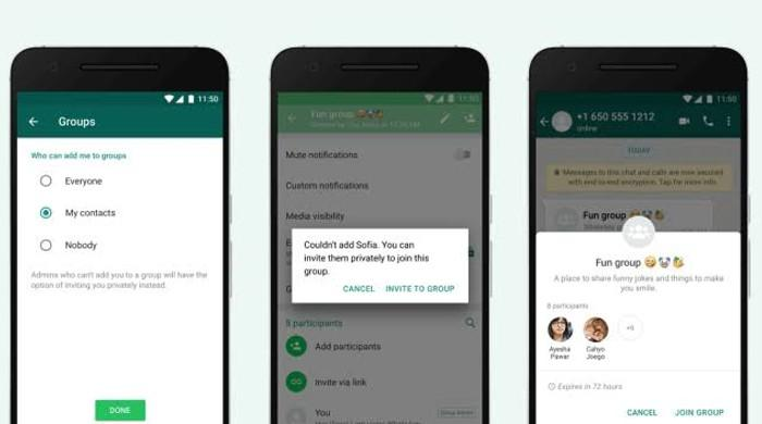 WhatsApp's new update: Control who gets to add you in groups