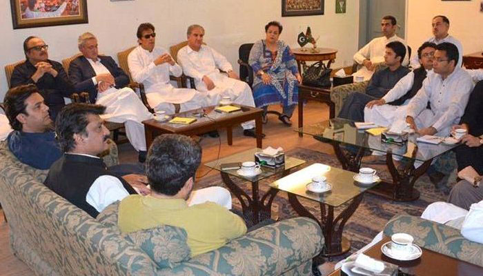 Image result for PM summoned PTI core committee meeting to discuss JUI-F protest, Nawaz's Health