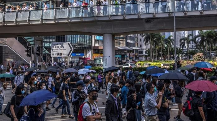 Hong Kong schools closed as protests put chokehold on city