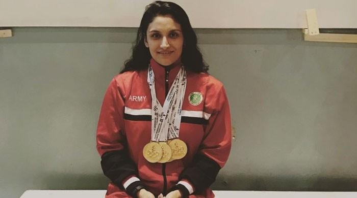 Swimmer Kiran Khan wins 10 gold medals for team Army  in National games 2019