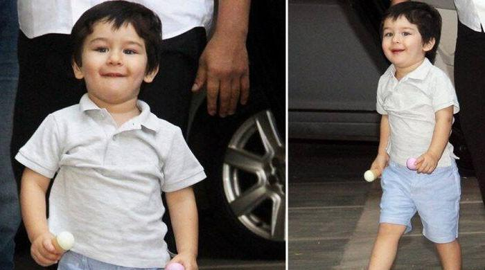 We're obsessed with Taimur Ali Khan's leaked videos from the sets of 'Laal Singh Chaddha'