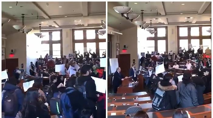 Harvard students walk out en masse from Israeli diplomat's talk in US