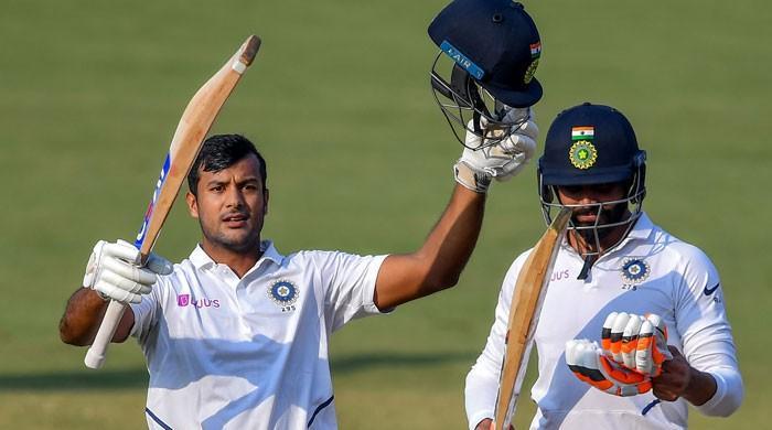 Agarwal hits double ton as India seize control of Bangladesh Test