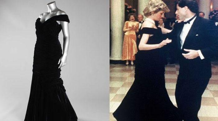 Dress Diana wore when she danced with Travolta up for sale
