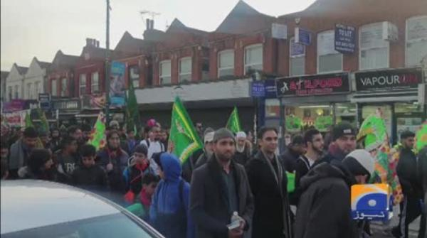 Geo News Special – Muslims gather in the streets of London to celebrate the birth and message of the Holy Prophet (PBUH)
