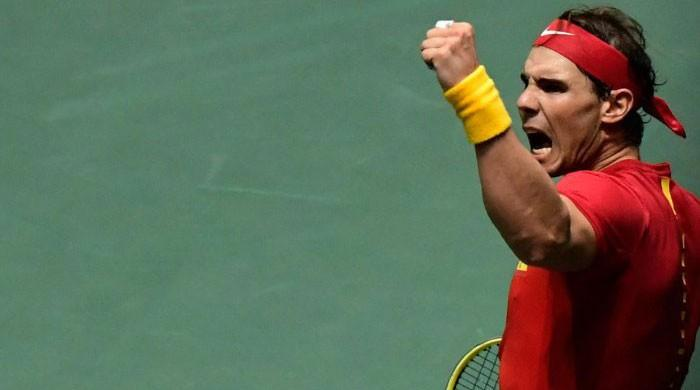 Nadal wins Davis Cup opener, hails 'amazing atmosphere'