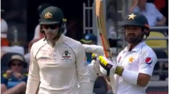 WATCH: Paine plays mind games with Rizwan by admiring his scent