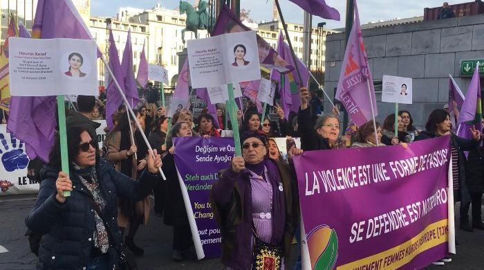 World call for stopping violence against women and legislation to protect them