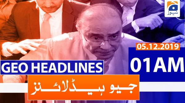 Geo Headlines 01 AM | 5th December 2019