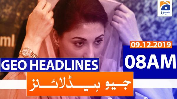 Geo Headlines 08 AM | 9th December 2019