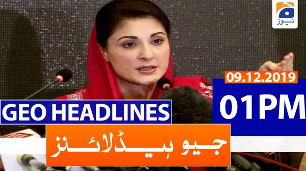 Geo Headlines 01 PM | 9th December 2019