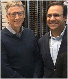 Image result for Umar Saif with Bill Gates