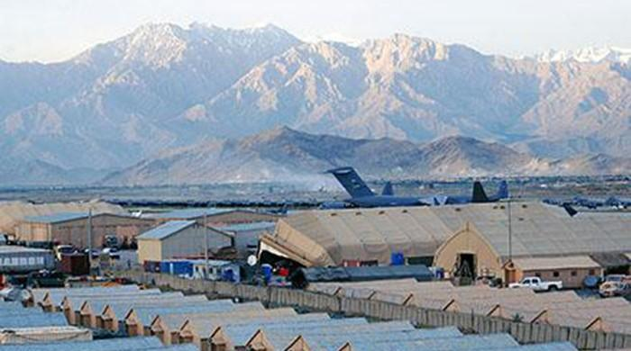 Blast damages hospital near Bagram airbase in Afghanistan