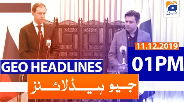 Geo Headlines 01 PM | 11th December 2019