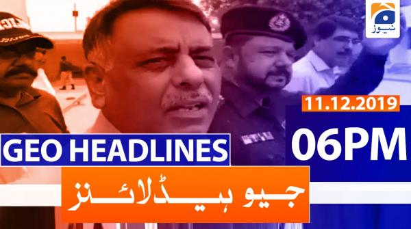 Geo Headlines 06 PM | 11th December 2019
