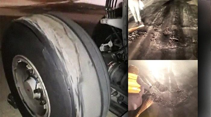 Plane's tyre burst because Sialkot airport runway suddenly sunk: PIA sources