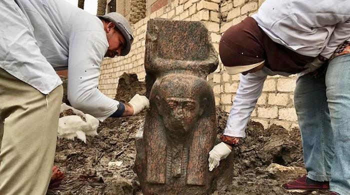 Egypt finds 'rare' bust of pharaoh Ramses II near Giza