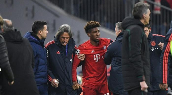 Coman's knee injury not as bad as feared, says Bayern