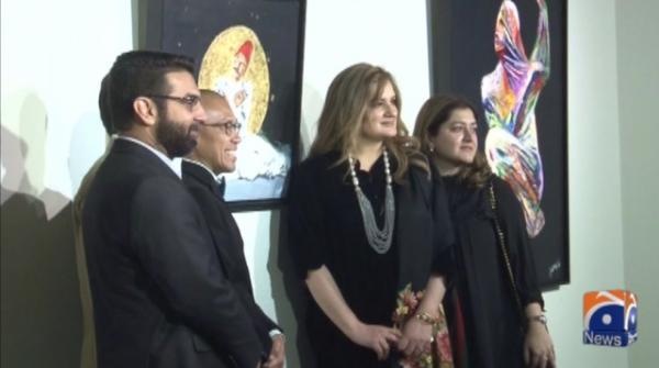 کراچی میں فن پاروں کی نمائش کا انعقاد کیا گیا