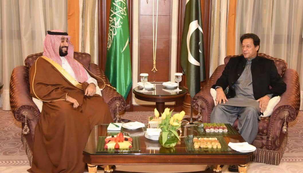 PM Khan meets Crown Prince Mohammad bin Salman in Riyadh