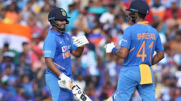 Iyer, Pant guide India to 287-8 in first West Indies ODI