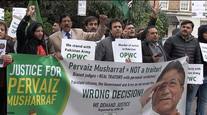 Musharraf's supporters say their leader denied justice