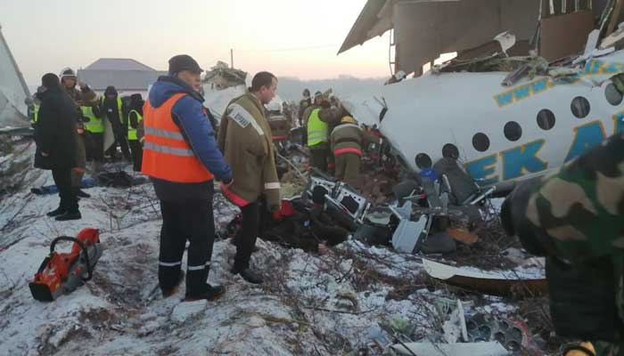 Deaths as plane crashes near Kazakhstan airport