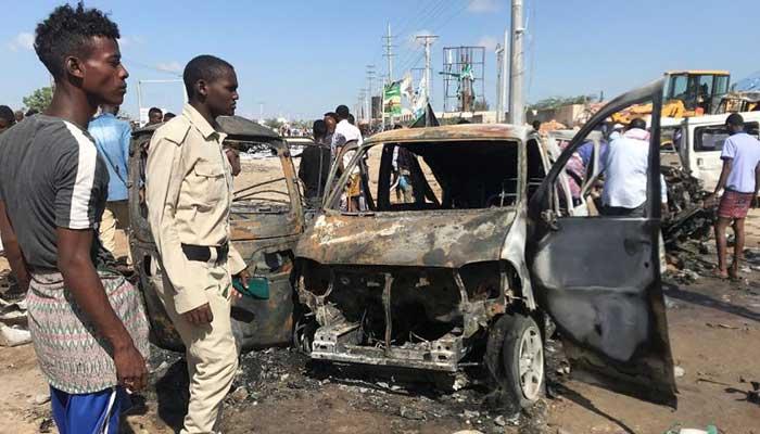 Auto bomb rocks Somali capital Mogadishu, killing at least 20