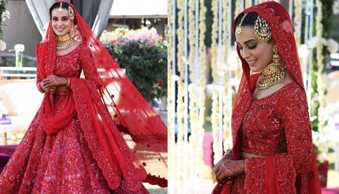Iqra Aziz, Yasir Hussain finally say 'qabool hai' in grand wedding reception