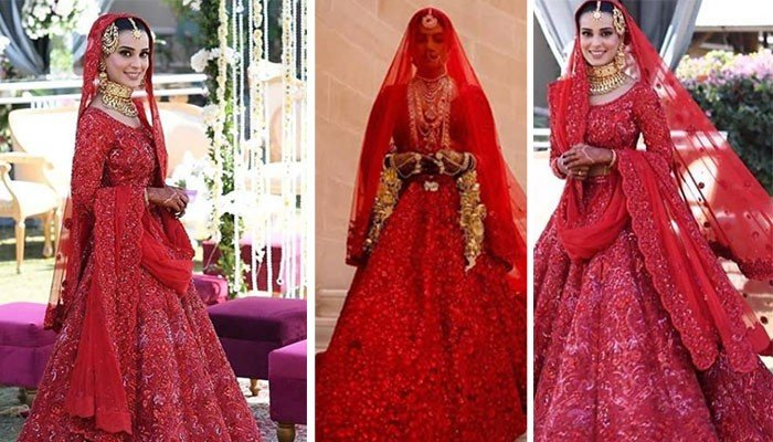 Iqra Aziz S Bridal Dress An Exact Replica Of Priyanka Chopra S
