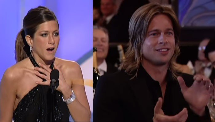 When Jennifer Aniston won the Golden Globes award and made Brad Pitt proud: WATCH - Geo News