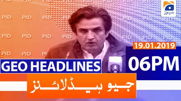 Geo Headlines 06 PM | 19th January 2020