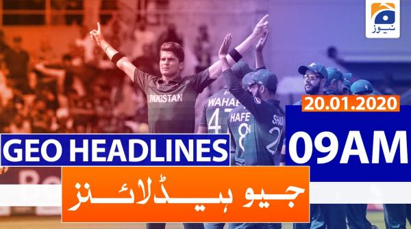 Geo Headlines 09 AM | 20th January 2020