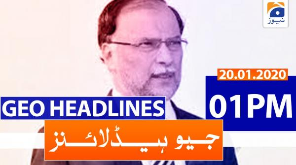 Geo Headlines 01 PM | 20th January 2020
