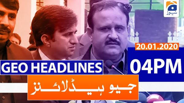 Geo Headlines 04 PM | 20th January 2020