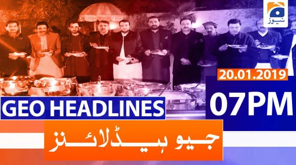 Geo Headlines 07 PM | 20th January 2020