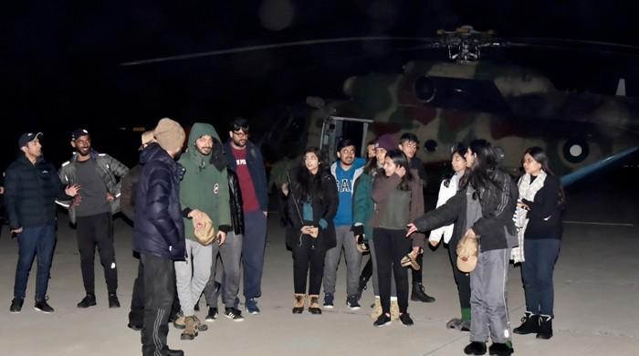 Army rescues 22 students stranded in snow-hit Gilgit district