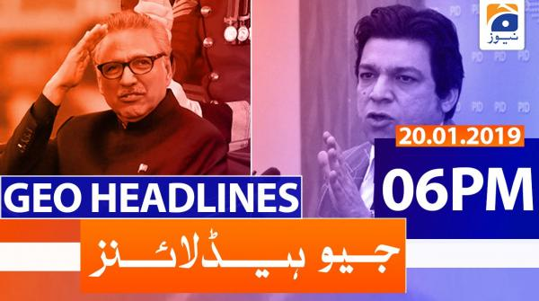 Geo Headlines 06 PM | 20th January 2020