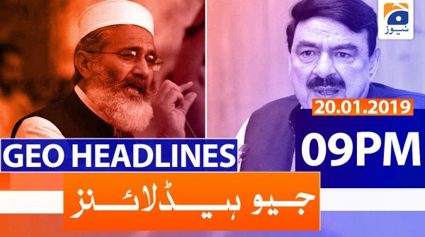 Geo Headlines 09 PM | 20th January 2020