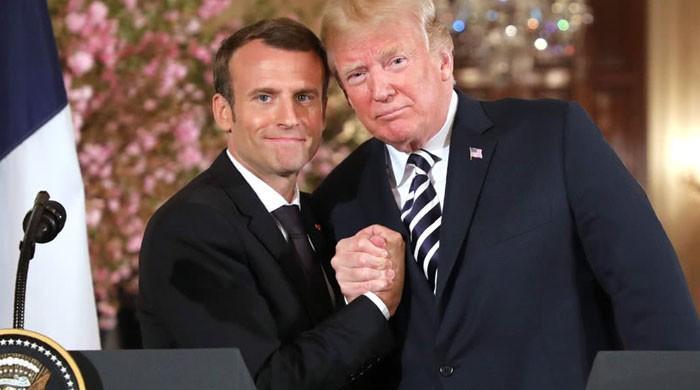 Trump, Macron agree to give digital tax row talks a chance: source
