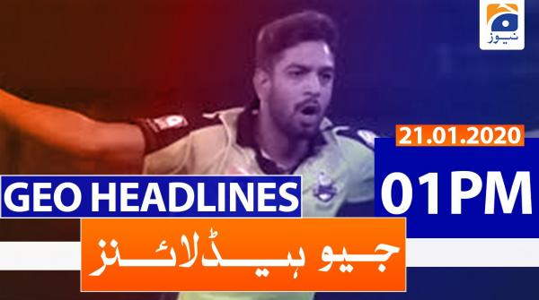 Geo Headlines 01 PM | 21st January 2020