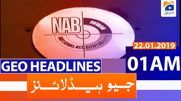 Geo Headlines 01 AM | 22nd January 2020