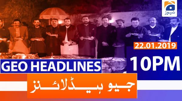 Geo Headlines 10 PM | 22nd January 2020