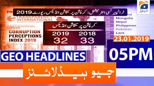 Geo Headlines 05 PM | 23rd January 2020