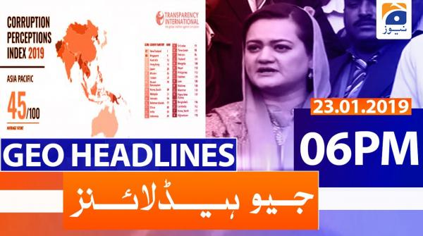 Geo Headlines 06 PM | 23rd January 2020