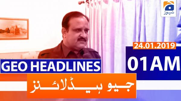 Geo Headlines 01 AM | 24th January 2020