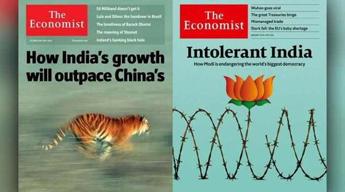 Decade-old magazine covers highlight contrast between modern-day Pakistan, India