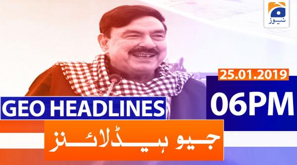 Geo Headlines 06 PM | 25th January 2020