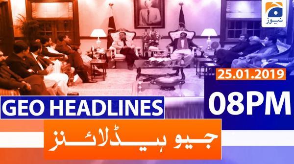 Geo Headlines 08 ٓPM | 25th January 2020